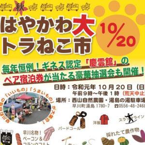 10/20(日)秋の大トラねこ市が開催されます!
